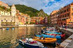 Porto de Vernazza Fotografia de Stock Royalty Free