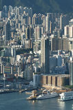 Porto de Victoria de Hong Kong Foto de Stock Royalty Free