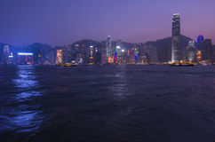 Porto de Victoria em Hong Kong Imagem de Stock