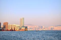 Porto de Victoria, Hong Kong 2009Y Imagem de Stock Royalty Free