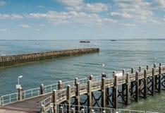 Porto de Vlissingen, Países Baixos Imagem de Stock Royalty Free