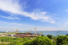 Porto de Wutong sob a construção Imagens de Stock