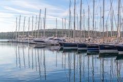 Porto degli yacht di Sibenik Fotografia Stock Libera da Diritti