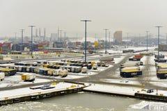 Porto del carico di Vuosaari, Finlandia Fotografia Stock