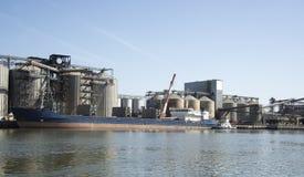 Porto del grano sul fiume Don. Immagini Stock Libere da Diritti