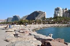 Porto del porticciolo alla città di Eilat Immagini Stock Libere da Diritti