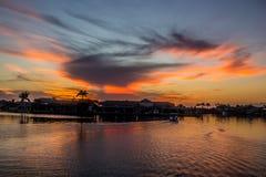 Porto del porticciolo delle isole nei terreni paludosi di Florida fotografie stock libere da diritti
