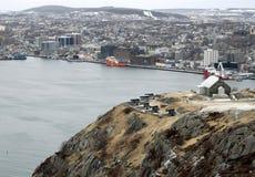 Porto del ` s di St John di vista dell'angolo alto nell'inverno Fotografia Stock