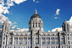 Porto dell'edificio di Liverpool Immagini Stock Libere da Diritti