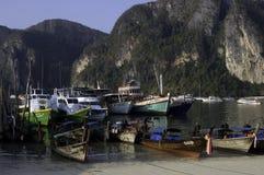 Porto dell'isola di Phi di Phi del KOH Fotografia Stock Libera da Diritti