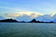 Porto dell'isola di Samui fotografia stock