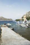 Porto dell'isola di Symi fotografia stock libera da diritti