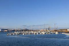 Porto dell'yacht a Arrecife, Spagna Immagini Stock