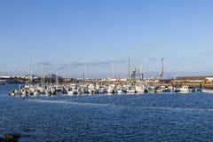 Porto dell'yacht a Arrecife, Spagna immagine stock