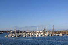 Porto dell'yacht a Arrecife, Spagna immagini stock libere da diritti