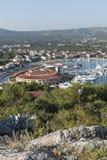 Porto dell'yacht in Rogoznica fotografie stock