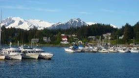 Porto della baia di Auke, Alaska Fotografie Stock Libere da Diritti