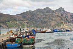 Porto della baia di Hout ed il picco di Chapman, Cape Town Fotografia Stock