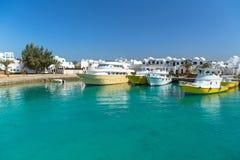Porto della barca in Hurghada fotografia stock