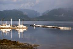 Porto della barca in Tenakee Alaska Fotografia Stock