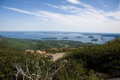 Porto della barra, vista aerea della Maine Fotografie Stock Libere da Diritti