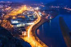Porto della città Fotografie Stock