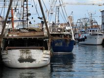 Porto della città di Chioggia in Italia Fotografia Stock Libera da Diritti