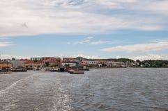 Porto della città di Holbaek in Danimarca Fotografia Stock Libera da Diritti