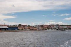 Porto della città di Holbaek in Danimarca Fotografia Stock