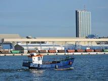 Porto della città di Klaipeda, Lituania Fotografie Stock Libere da Diritti