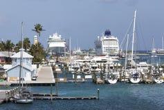 Porto della città di Nassau immagini stock libere da diritti