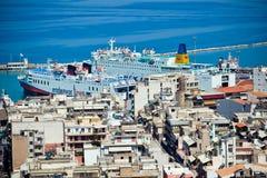 Porto della città di Patra in Grecia fotografie stock libere da diritti