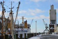Porto della città Husum lungo il Mare del Nord, Germania Immagini Stock Libere da Diritti