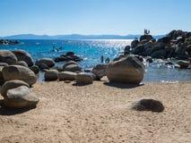 Porto della sabbia, Lake Tahoe immagini stock