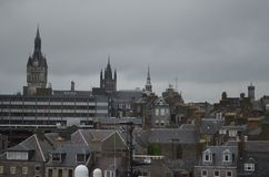 Porto della Scozia - di Aberdeen, ingresso principale per l'olio del Mare del Nord ed industria offshore del gas Immagini Stock Libere da Diritti
