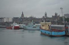 Porto della Scozia - di Aberdeen, ingresso principale per l'olio del Mare del Nord ed industria offshore del gas Immagini Stock