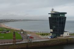 Porto della Scozia - di Aberdeen, ingresso principale per l'olio del Mare del Nord ed industria offshore del gas Immagine Stock