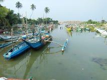 porto delle industrie della pesca delle foto naturali dello Sri Lanka Fotografia Stock Libera da Diritti