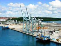Porto di Aarhus Fotografia Stock