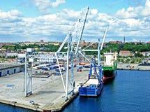 Porto di Aarhus Fotografia Stock Libera da Diritti