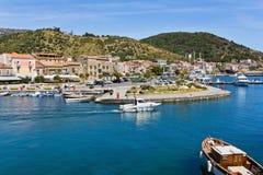 Porto di Acciaroli, Salerno fotografie stock libere da diritti