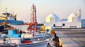Porto di Aegina Immagini Stock