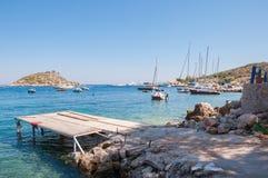 Porto di Agios Nikolaos su Zacinto Immagine Stock Libera da Diritti