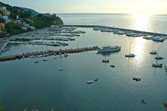 Porto di Agropoli in Italia immagine stock libera da diritti