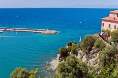 Porto di Agropoli, Salerno immagini stock libere da diritti