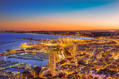 Porto di Alicante Fotografie Stock