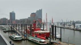 Porto di Amburgo Immagine Stock Libera da Diritti