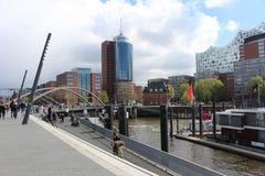 Porto di Amburgo Fotografie Stock Libere da Diritti