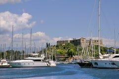 Porto di Antibes in Francia Fotografia Stock Libera da Diritti