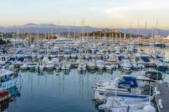 Porto di Antibes nel sud della Francia Fotografia Stock Libera da Diritti